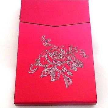 PINK TRIBAL ROSE SLIM Cigarette Business ID Card USA SELLER Gift Case BUS-0179