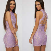 Lavender Love Corset Dress