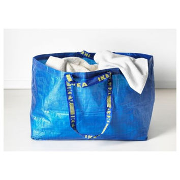 IKEA BIG Blue Tote Bag Reusable Shopping Groceries Laundry Organizing Storage