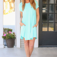 Bamboo Weekend Wonder Dress - Mint