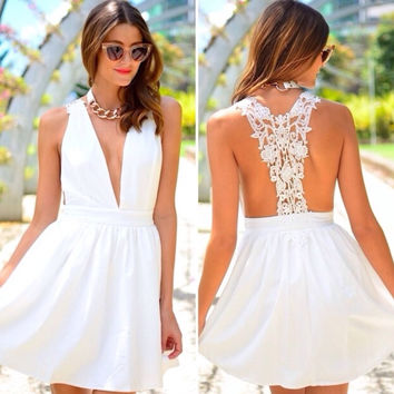 New Fashion Summer Sexy Women Mini Dress Casual Dress for Party and Date = 4725376004