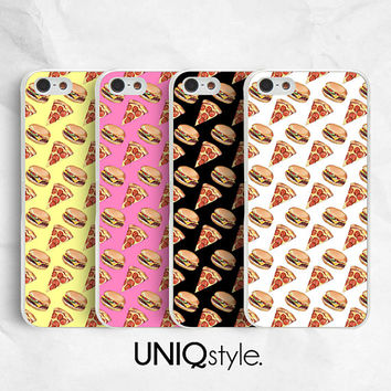 Pizza Burger phone case for LG G2, Nexus 4, Nexus 5, Moto G, Moto X - colorful plastic back cover case for LG, Motorola - I19