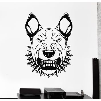 Vinyl Wall Decal Angry Dog Portrait Animal Pet Stickers Mural (g362)