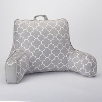 Simple by Design Trellis Faux-Suede Backrest Pillow