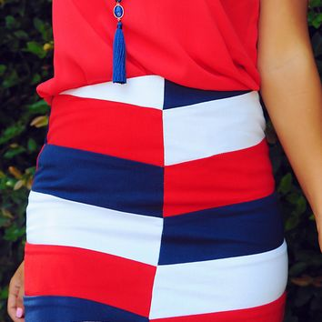 Only In America Skirt: Multi