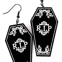 Curiology | Coffin Earrings - Tragic Beautiful buy online from Australia