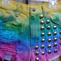 Rainbow Hipster Tumblr Shorts