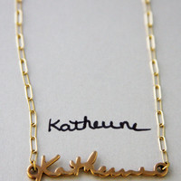 Name Necklace, Name Charm Necklace, Name Necklaces, Gold Name Necklace
