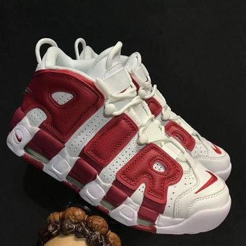 Nike Air More Uptempo White Red - Beauty Ticks