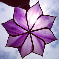 Made to Order Medium Purple Stained Glass Sun Catcher