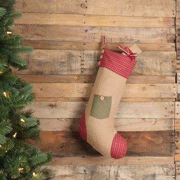 Dolly Star Green Pocket Stocking