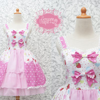 Strawberry Sweet Lolita Dress Kawaii Pink