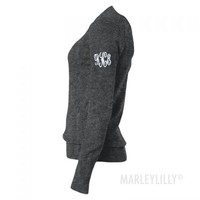 Monogrammed Ladies Long Sleeve V-Neck Sweater | Marley Lilly