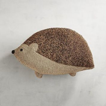 Beaded Fall Hedgehog Pillow