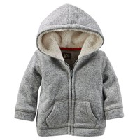 OshKosh B'gosh Marled Fleece Hoodie - Baby Boy, Size:
