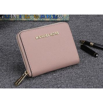 Michael kors classic counter models women's exquisite stylish high quality clutch F-OM-NBPF Pink
