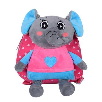 Kid 3D cartoon elephant backpack kindergarten cute schoolbag for nursery baby boys girls cute bag children best gift mochila