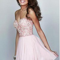 Buy discount Chic Chiffon Sweetheart Neckline Short A-line Homecoming Dress at Dressilyme.com
