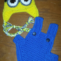 Crochet Minions Diaper Cover / Cozy Set / Costume