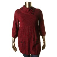 Style & Co. Womens Cable Knit Marled Tunic Sweater