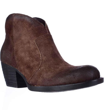 Born Michel Short Western Ankle Boots - Rust