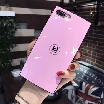 CHANEL iPhone Phone Cover Case For iphone 6 6s 6plus 6s-plus 7 7plus + phone rope