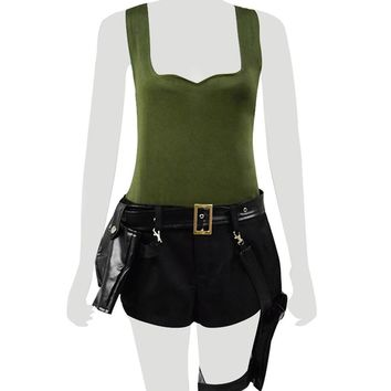 Game Tomb Raider Lara Croft Cosplay Costume Battle Suit Halloween Cosplay Full Set Women Cosplay