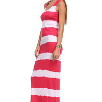 Sleeveless Tie Dyed Multicolored Maxi Dress