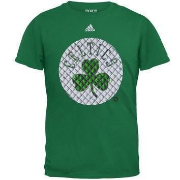 Boston Celtics - Tip Off Tech Quilt Go To Adidas Mens T Shirt