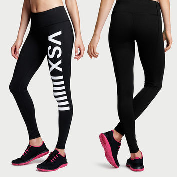 Women's Fashion High Waist Stretch Cotton Sweatpants Jogging Wearing Ladies Yoga Pants Gym Sports And Fitness Candy Color Capris Leggings = 4747033220