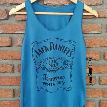 BLUE OCEAN Jack Daniels Tank Top Hipster tank top Tank top women Fitness top Summer Cloth Summer fashion tshirt Vintage tank tops for woman