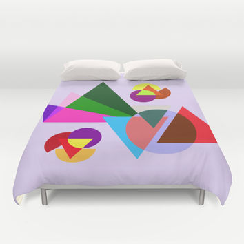 geometric style Duvet Cover by Haroulita