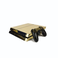 PS4 PlayStation 4 Metallic Vinyl Wrap: Chrome Gold