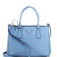 Prada - Mini Saffiano Leather Double-Zip Tote
