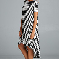 Stripe High Low Dress