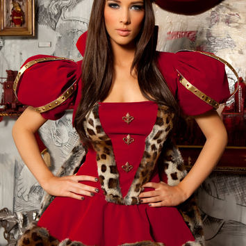 Red Leopard Accent Queen Costume