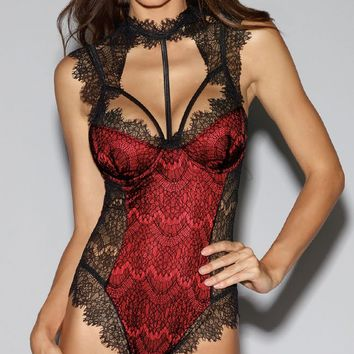Stunning Lace Harness Teddy