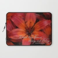 Flowers Always Laptop Sleeve by Noonday Design