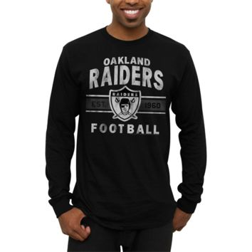 Oakland Raiders Vintage Team Arch Long Sleeve T-Shirt - Black