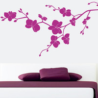 Wall Decal Vinyl Sticker Decals Art Decor Design Orchidea flower beautiful blossom sakura cherry Branch Tree Dandelion Dorm Bedroom (r807)