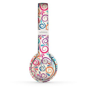 The Bright Colored Vector Spiral Pattern Skin Set for the Beats by Dre Solo 2 Wireless Headphones