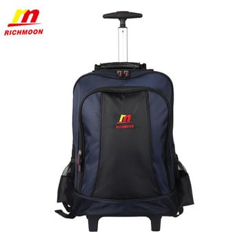 Richmoon Laptop Backpack Casual BusinessTravel Bag High Quality Fashion Trolley Luggage Bags Large Rolling Traveling Suitcase