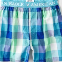 AEO 's Plaid Boxer (Mint)