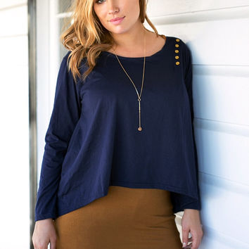 Blue Loose Layered Blouse