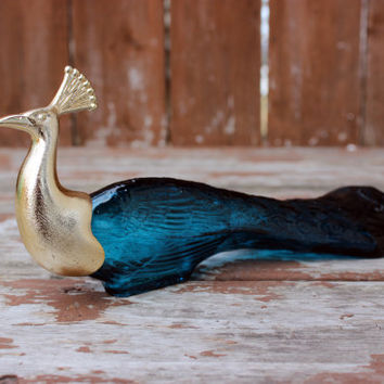 Vintage Avon Peacock Perfume Bottle | Retro Home Decor