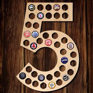 Number Five Beer Cap Map