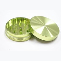 Aluminum Herb and Spice Grinder 2 Parts Magnetic Color Green
