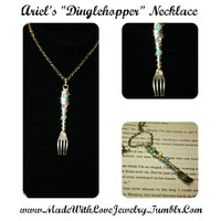 The Little Mermaid Themed Dinglehopper Necklace
