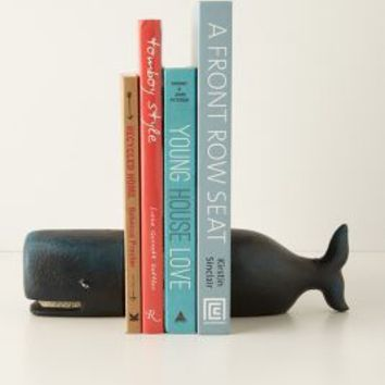 Victorian Whale Bookends by Anthropologie in Blue Size: One Size Bookends