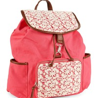 FLORAL CROCHET BACKPACK